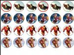 24 x Iron Man Wafer Rice Paper Cake Bun Top Toppers